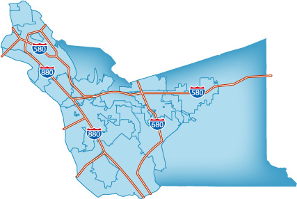 Interactive Map of Alameda County I Live In The Bay Area