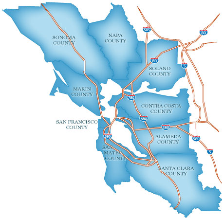 Davide Pio Commercial Real Estate Agent I Live In The Bay Area - Bay area county map